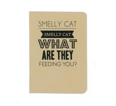 Smelly cat notebook by invisiblecrown on Etsy