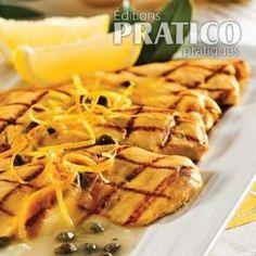 Escalope de poulet au citron et câpres - Recettes - Cuisine et nutrition - Pratico Pratique