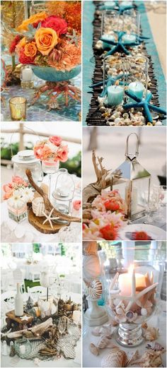 beach wedding centerpiece decor ideas - Deer Pearl Flowers