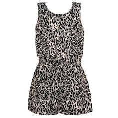 Real Love Little Girls Black White Leopard Pattern Sleeveless Jumper 6X. A great jumper from Real Love for an edgy touch. Black white leopard patterned sleeveless jumper. Tie accent at waist and cut-out back detail. Material: 100% Polyester. Care Instructions: Machine wash cold with similar colors, use only non chlorine bleach when needed, tumble dry low remove promptly, cool iron if necessary. Sizing is based on U.S. clothing size standards.