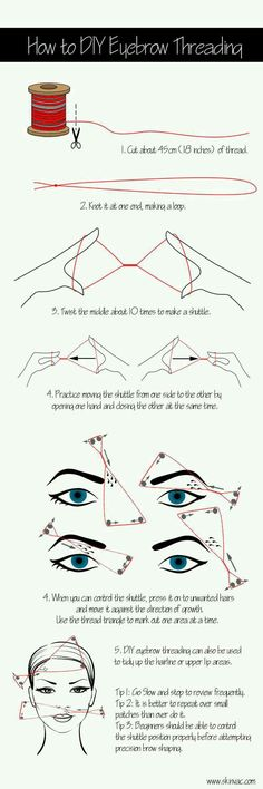 "Your day just got better with this tip: ""DIY Guide How To Thread Your Eyebrows"""