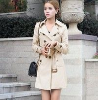 Wish | 2015 Spring new large size women's fashion Slim and long sections double-breasted coat jacket