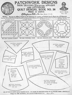 Excellent source for (free) antique quilt patterns!!! www.quiltindex.org