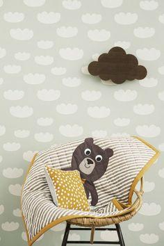 Tapeten für Kinderzimmer gestalten Wolkenmuster
