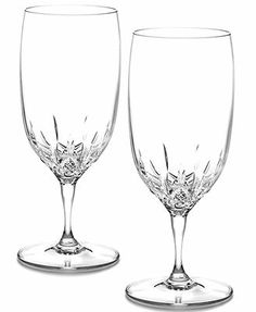 Waterford Stemware, Lismore Essence Iced Beverage Glasses, Set of 2... Apparently Lismore essence is 35% lighter than regular essence