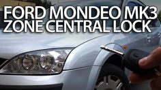 How to activate zone central lock in #Ford #Mondeo MK3 #safety selective unlocking #cars