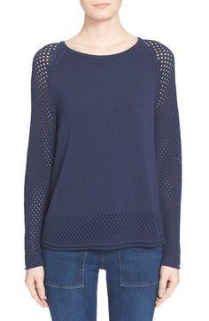 Moncler 'Maglia Girocollo' Tricot Mesh Sweater