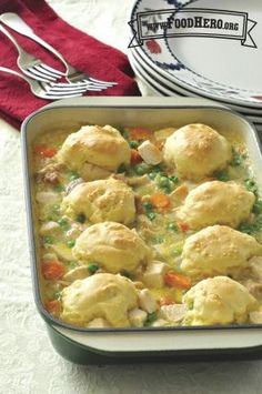 Chicken and Dumpling Casserole   Food Hero - Healthy Recipes that are Fast, Fun and Inexpensive
