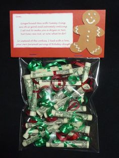 Holiday Dough!! What a cute way to give somebody cash without just stuffing it into a card!
