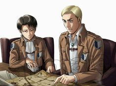 Post with 433 views. Erwin Smith official arts - in uniform Attack On Titan Season, Attack On Titan Ships, Attack On Titan Anime, Ereri, Mikasa, Armin, Levi And Erwin, Erwin Aot, Connie Springer