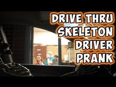 This perfect Halloween prank was done by YouTube user Magic of Rahat , who has some experience when it comes to scaring the bejesus out of fast food workers. | Scaring Drive-Thru Workers By Pulling Up To The Window With A Skeleton Driving Your Car Is Hilarious