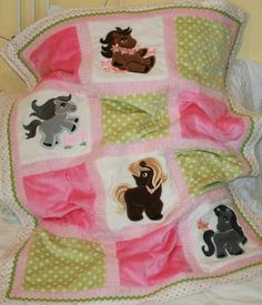Personalized Baby Blanket  Appliqued  by tlcblanketsandthings, $85.00