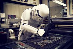 My two loves, Star Wars AND typography? Be still my beating heart! War Image, Printing Press, Letterpress Printing, Dark Side, Art Photography, Army, Star Wars, Typography, Graphic Design