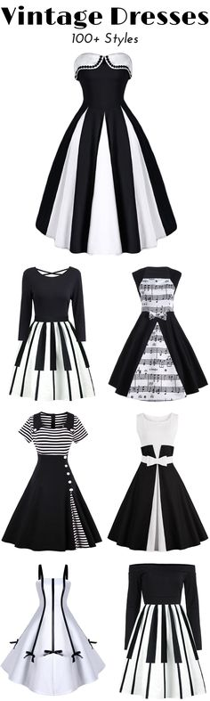 100+ Vintage Dresses for Women | Low to $12 | Sammydress.com | #vintage #dress #womenfashion