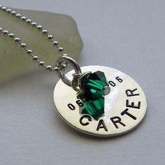 Mother's Necklace with Swarovski Crystal by Punky Jane