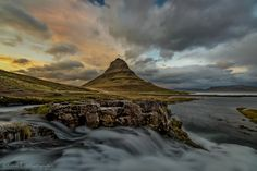 Kirkjufell at sunset - null