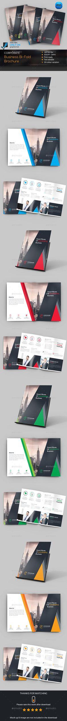 Corporate Bifold Brochure Template PSD #design Download: http://graphicriver.net/item/corporate-bifold-brochure/14274564?ref=ksioks