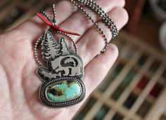 bear salmon turquoise sterling silver woodland warriors. Nicole Dumontier