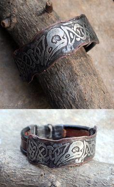 Męska bransoleta z motywem czaszki ptaka / Men's bracelet with theme of skull bird. Moje MW