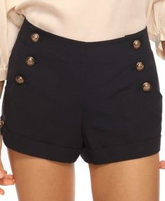 High-Waisted Sailor Shorts | FOREVER21 - 2000138452 | Shorts ...