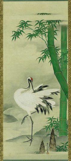 Crane   Kano Yôsen'in Korenobu, Japanese, 1753–1808