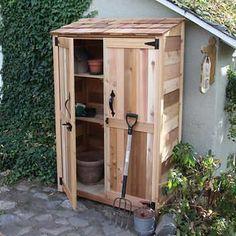 4' x 2' Cedar Garden Storage Shed