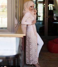 Blush lace long cardigan - check out: Esma <3
