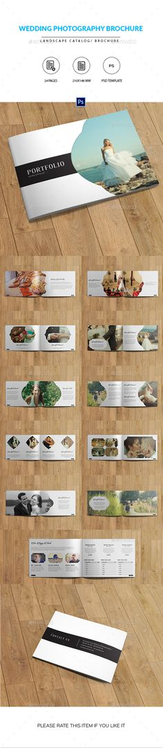 Wedding Photographer Portfolio Catalog/Brochure  #wedding catalog #white #$16