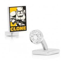 Clone Trooper Pop Art Poster Cufflinks