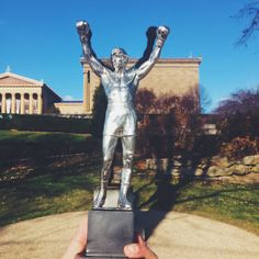 """Our new """"Rocky"""" statue measures up pretty well with the real thing!"""
