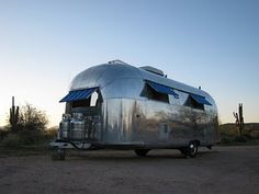 desert-check. airstream-check. awesome-check. Airstream Campers, Rv Parks, Caravans, Toys For Boys, Recreational Vehicles, Travel Inspiration, Air Stream, Camping, Travel Trailers