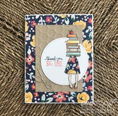 Paper Joy A Big Thanks Hand Delivered Special Card For Teacher Using This Adorable Hostess Set From Stampinup