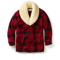 Vintage New! - Filson - Mackinaw Wool Packer Coat - 46 - Red/Black Check #Filson #086RB46