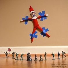 Captured by the Confederacy | 43 Awesome Elf On The Shelf Ideas To Steal This Christmas
