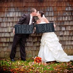good idea for thank you cards. print the picture on the cards then add a personal note for each. cute wedding ideas.