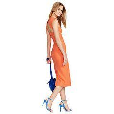 Cutout-Back Sleeveless Dress - Polo Ralph Lauren Short Dresses - RalphLauren.com