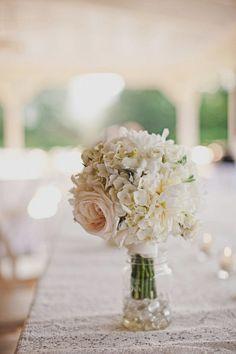 Neutral wedding decor. Beautiful!