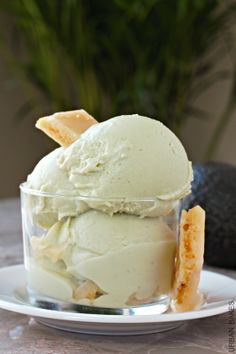 Coconut Avocado Ice Cream   urbanbakes.com - make with my diy df sweetened condensed milk!