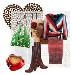 """""""coffee is my valentine"""" by meadowbat ❤ liked on Polyvore featuring Burberry, Alice + Olivia, UGG, Kate Spade and CoffeeDate"""