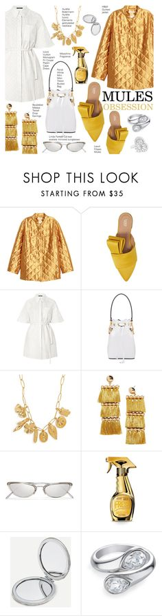 """Wyoming"" by nindi-wijaya ❤ liked on Polyvore featuring Lewit, Fendi, Aurélie Bidermann, BaubleBar, Linda Farrow, Moschino, Chopard, look, ootd and mules"