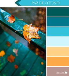 SWEET CARD CLUB: Combinando colores de otoño