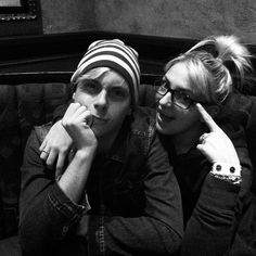Rydel Lynch, and Riker Lynch! She's wearing his glasses... She looks almost as amazing as him in those glasses.