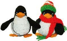 Pingüino Amigurumi ~ Patrón Gratis en Español y con Videotutorial aquí: http://www.tejiendoperu.com/navidad/ping%C3%BCino-a-crochet-amigurumi/