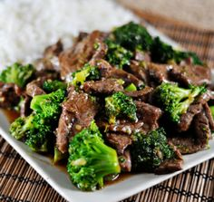 {INGREDIENTS: 1 cup beef broth 1/4 cup soy sauce 2 Tablespoons oyster sauce 3 to 4 Tablespoons of Turvia or THM Sweet blend ½ teaspoon of maple extract 1 tablespoon sesame oil or coconut oil  3 cloves garlic, minced 2 pounds boneless beef chuck roast, thinly sliced 2 heads broccoli, cut into florets 1 teaspoon of gluccie