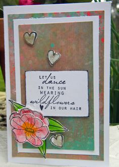Kim have created a simple yet effective garden DIY card that can be used for many different occasions.