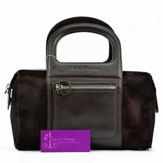 S.Ferragamo Bag Dark Brown Color Pony Hair With Leather Good Condition Price-Rm1xxxRef.code-(GUKY-1) More Information Pls Email  (- luxuryvintagekl@ gmail.com )