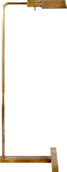 """WILLIAM PHARMACY FLOOR LAMP, 33""""-40.25"""", base: 11""""x13.5"""", 40W, dimmer, $630"""
