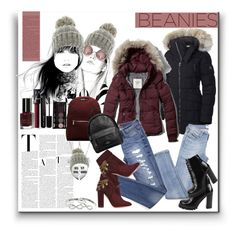 """Beanies"" by marionmeyer on Polyvore featuring Mode, Kate Marie, SOREL, Abercrombie & Fitch, Aquazzura, Jeffrey Campbell, Dr. Martens, Coach, Bobbi Brown Cosmetics und NARS Cosmetics"