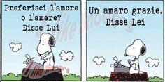 Il #saggio #snoopy alle prese con l' #amore  #peanuts