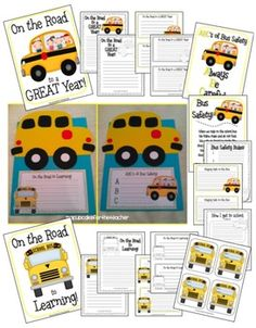 This school bus is just perfect for back to school!  Not only is it a great beginning of the year craft, but it doubles as a bus safety lesson, too...